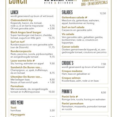 Diner De Buren Van Menukaarten 2020-02